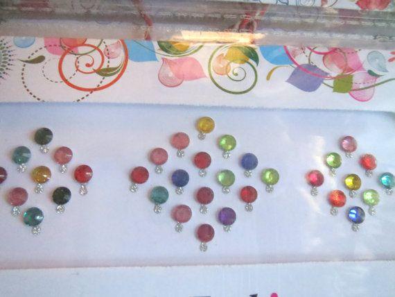 34 Designer Bollywood bridal Bindi /crystal stone by CraftyJaipur