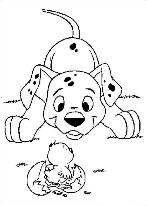 kleurplaat 101 Dalmatiers - 101 Dalmatiers