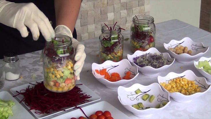 Como preparar Salada no Pote. É fácil, rápido e muito prático.