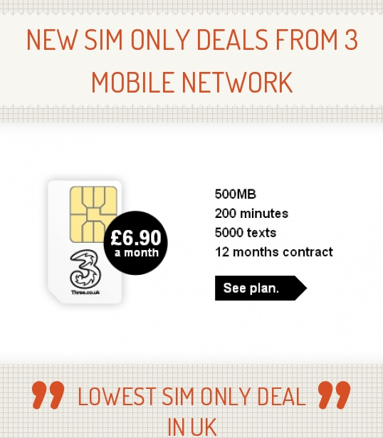 A Sim is the little chip that slots into your phone. A Sim-only deal covers just the mobile service, ie, it gives you a set monthly allowance of minutes, texts and data. It's normally much cheaper than a traditional mobile contract, as Sim-only deals don't bundle in the cost of the phone itself.