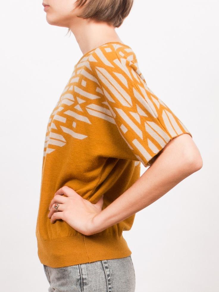 Pendleton La Pine Graphic Knit Orange Sweater