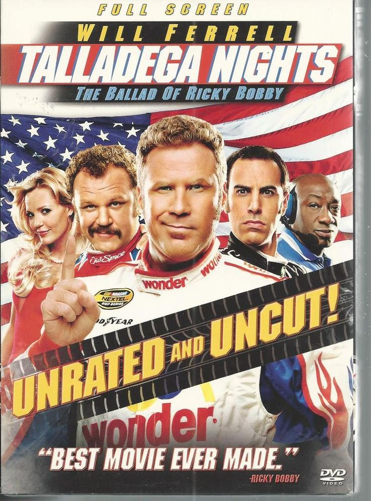 Will Ferrell Talladega Nights Sacha Baron Cohen John C Reilly Gary Cole DVD 2006 #ColumbiaPictures