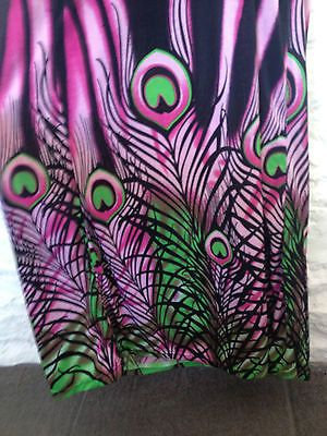 Ladies Halterneck Peacock Summer Patterned Maxi Dress - Size 8 - RRP $79  Now selling - Click through to go to eBay auction!