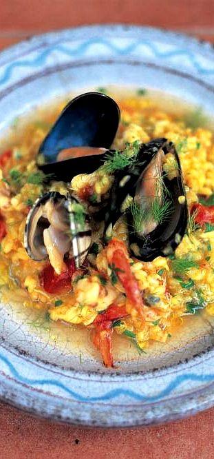 Seafood risotto (Risotto ai frutti di mare) . . .