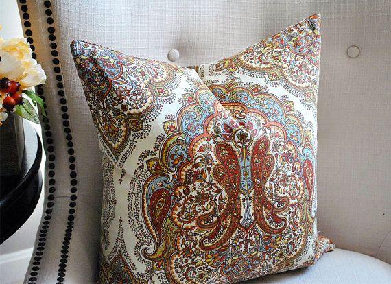 Fall Pillows  Autumn Pillow Medallion Pillow Throw Pillows  Decorative pillows  18x18 pillow covers  20x20 pillow covers