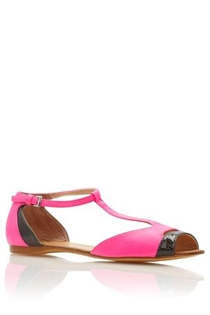 T-Bar Peep Toe Sandals