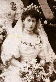 Queen Maud of Norway (nee Princess Maud of Wales), consort of King Haakon, a wedding picture.