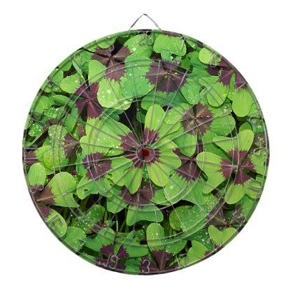 Patch of Four Leaf Clover (Sorrel) after Rain Dartboard - st patricks day gifts Saint Patrick's Day Saint Patrick Ireland irish holiday party
