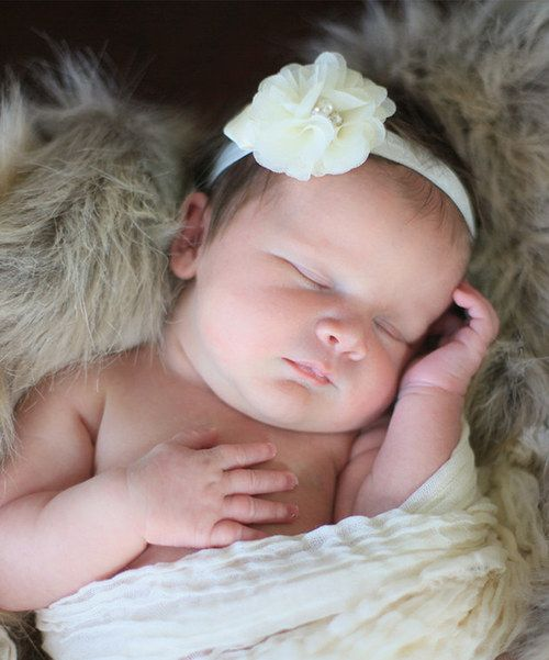 Take a look at the Olivia Rae Ivory Swaddle Wrap and Headband on #zulily today!