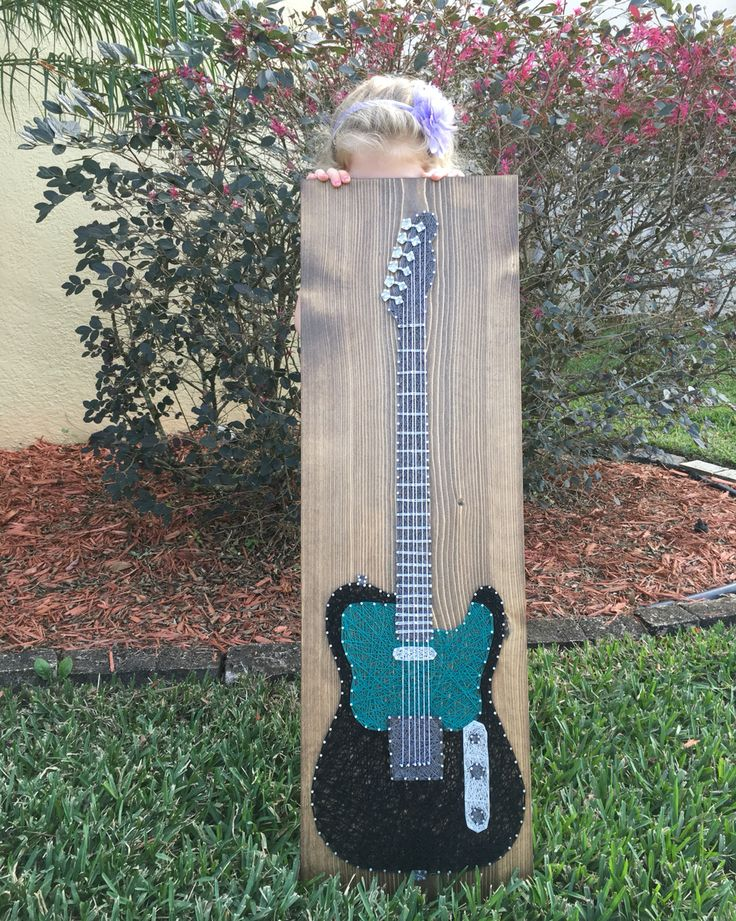 Electric Guitar String Art - order from KiwiStrings on Etsy! www.KiwiStrings.etsy.com