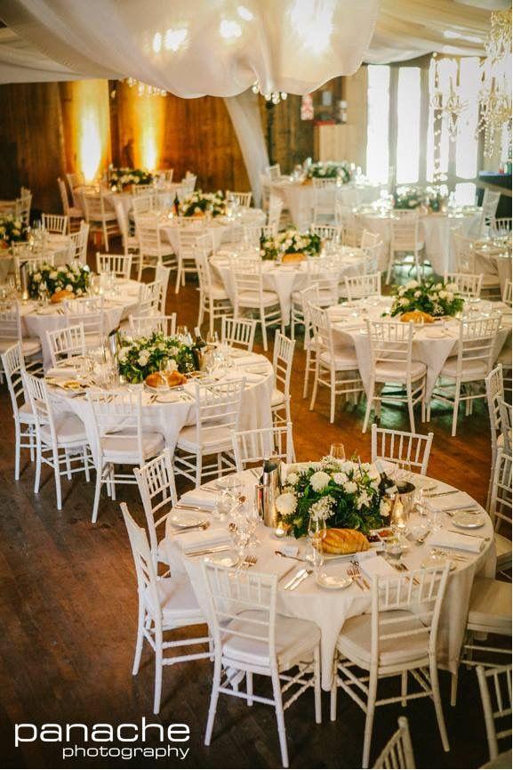 Round tables. Pulp Shed. #GlenEwinEstate #Weddings #bridal #adelaidehills #photos #Pulpshed #weddingvenue