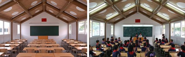 Arquitectura instantánea. Escuela china construida con tubos de cartón - Noticias de Arquitectura - Buscador de Arquitectura