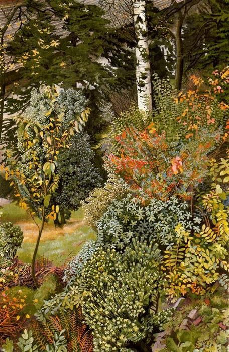 Garden Scene. Port Glasgow by Stanley Spencer (1891-1959, England)