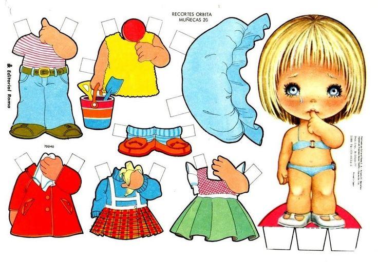 muñecas de papel para vestir