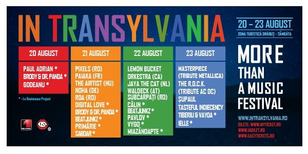 Festivalul IN TRANSILVANIA 2015