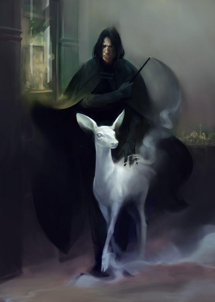glitterinyouryouth:  Artist: http://marmottart.tumblr.com   See you at Hogwarts, professor.   I'll remember Mr. Rickman's gift to film. Always.