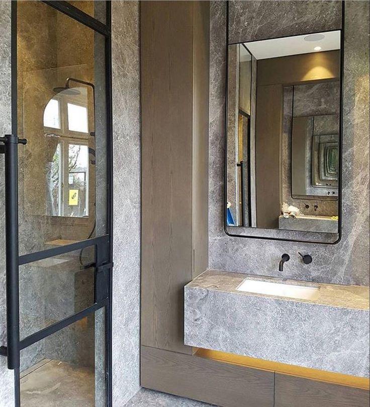 "203 Likes, 5 Comments - CDK Stone (@cdkstone) on Instagram: ""Sensational Portsea Grey Marble bathroom designed by @beatrixroweinteriordesign for…"""