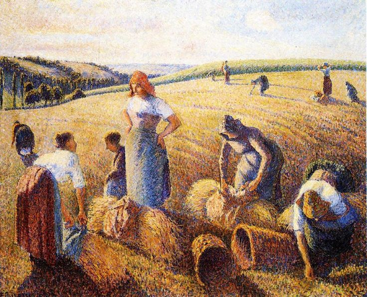 The Gleaners. (1889). Камиль Писсарро