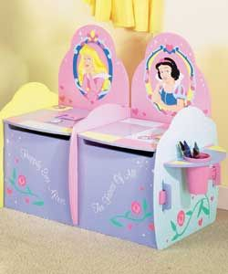 DISNEY Princess 2 Seater Toy Box  This toy box has 2 seats with 2 separate lids that  http://www.comparestoreprices.co.uk/childrens-furniture/disney-princess-2-seater-toy-box.asp #disney #disneyfurniture #kidsfurniture #childrensfurniture