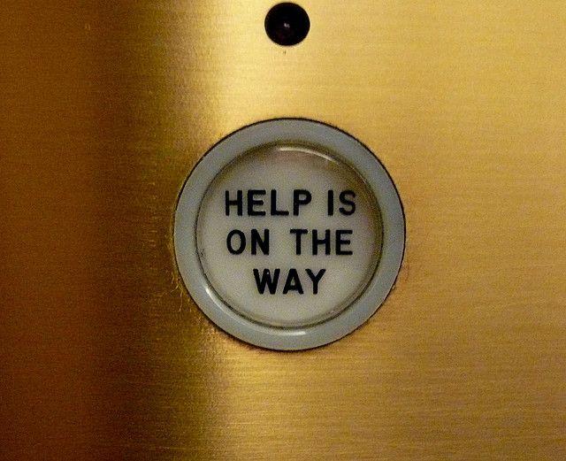 Help is on the way, elevator, Chicago Tribune, Chicago, IL.JPG   Flickr: Intercambio de fotos
