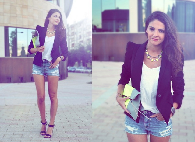 #short and blazer oufit |  CLICK THIS PIN if you want to learn how you can EARN MONEY while surfing on Pinterest