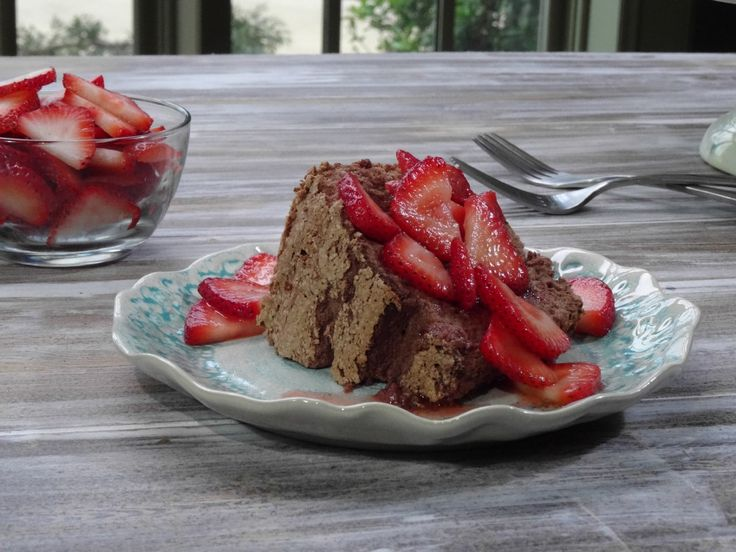 Chocolate Angel Food Cake with Strawberries Recipe : Trisha Yearwood : Food Network - FoodNetwork.com