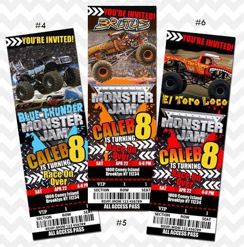 Monster Jam invitation El Toro Loco Invitation