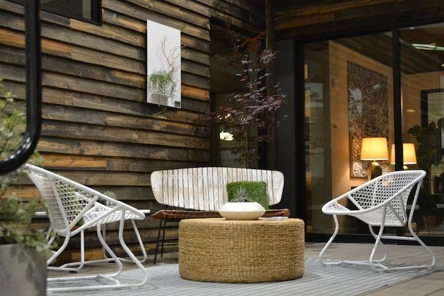 Dwell on Design 2013 - Our design for the Living Homes Outdoor Space with Fermob's Sixties Chairs.