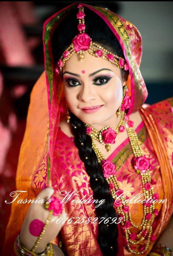 Like the design of this #Gaye #Holud floral jewellary set on the Bangladeshi bride...