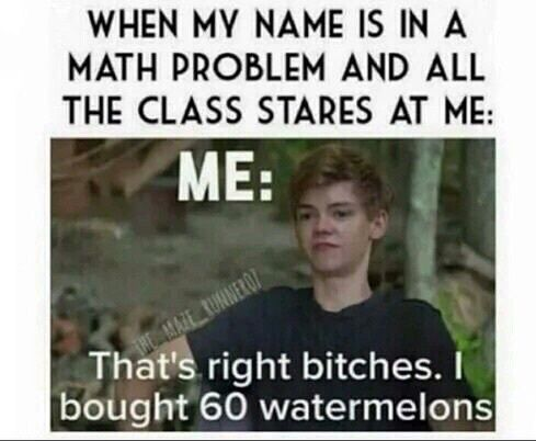 funny, math, and thomas brodie sangster image