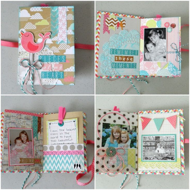 Easy Mini Albums Tutorial | #ScrapbookSteals Pinspiration Giveaway!