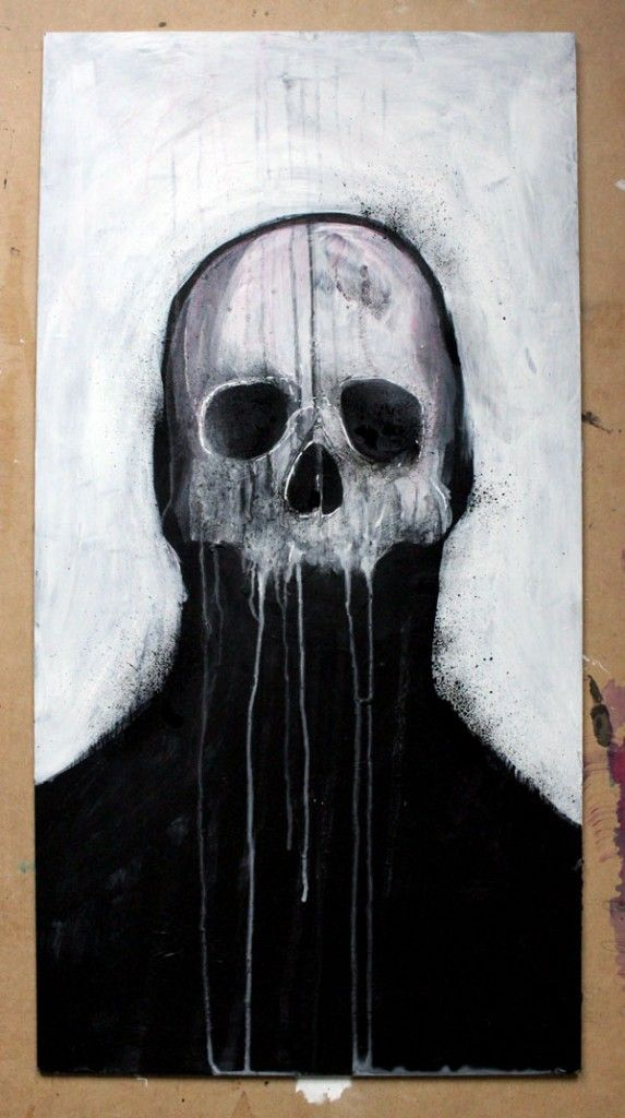 Skull illustrations by Mr Four Fingers