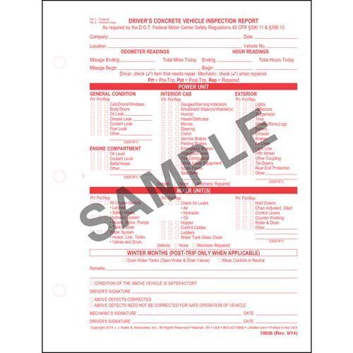 driveru0027s vehicle inspection report driveru0027s vehicle inspection - vehicle inspection form