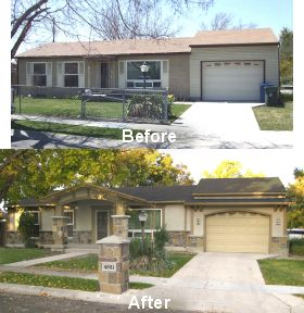 Home Exteriors Before And After Style Extraordinary Best 25 Exterior Remodel Ideas On Pinterest  Brick Exterior . Inspiration Design