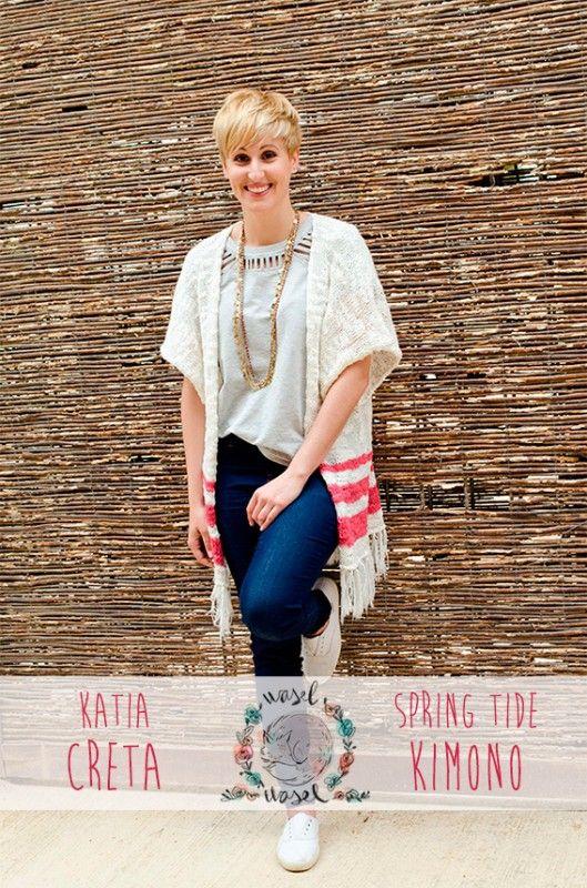 Craft Lovers ♥ Kimono primaveral con Katia Creta por @waselwasel | http://www.katia.com/blog/es/craft-lovers-kimono-primaveral-wasel-wasel/