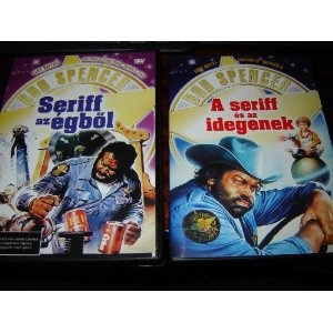 Seriff az egbol / A Seriff es as idegenek / Region 2 PAL DVDs / Hungarian only options / Magyar Szinkronnal / No English Options / Bud Spencer, Cary Guffey $13