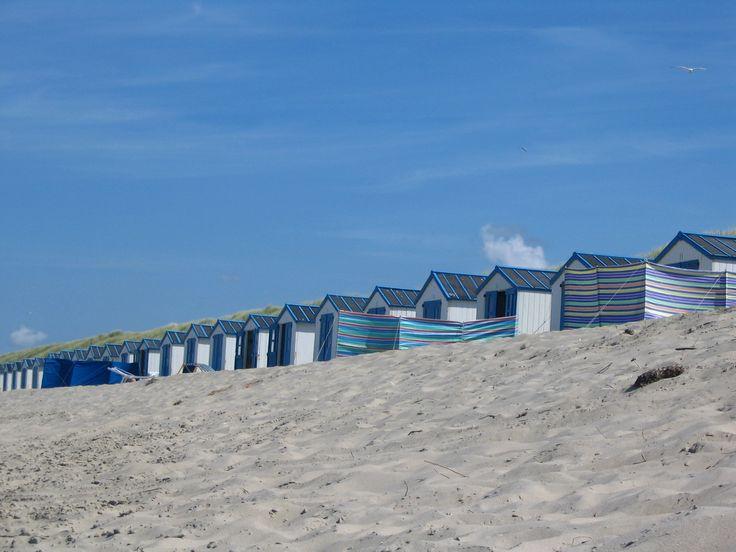 strandhuisjes op de Koog (Texel)