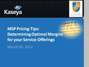 Determining Optimal Margins for your Managed Service Offerings