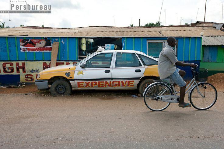 Broken down taxi in Amenfi. Ghana.