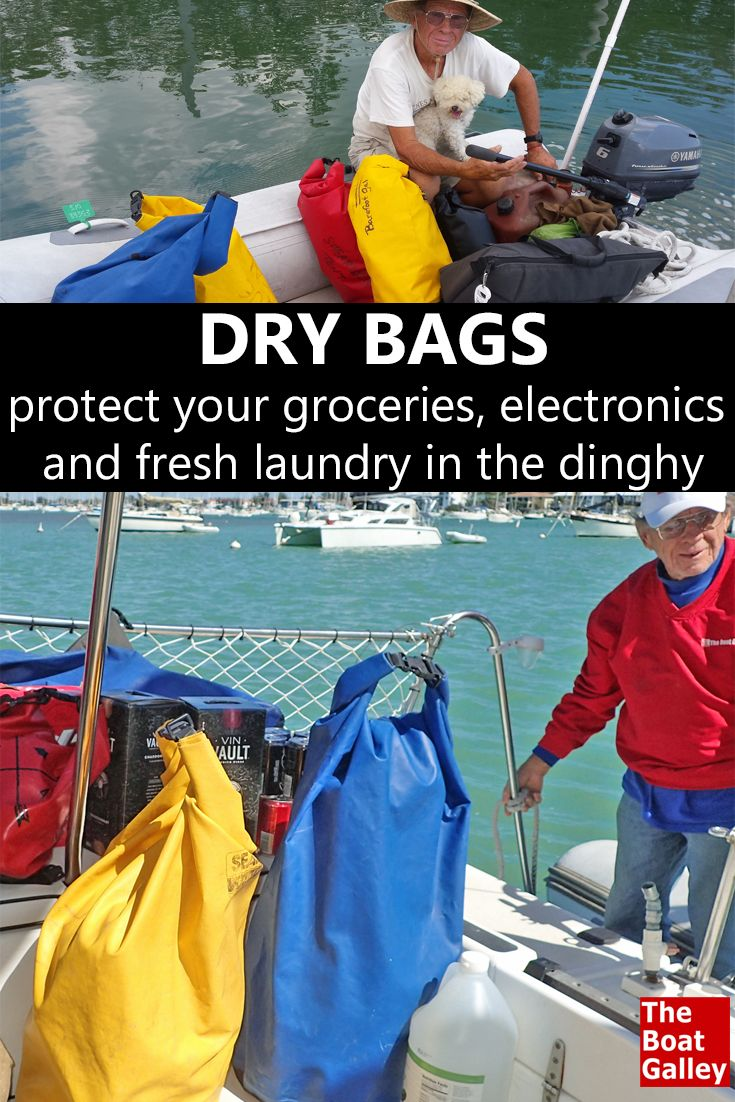 Dry bags are almost essential gear in my book. We've never had water damage anything in the dinghy! via @TheBoatGalley