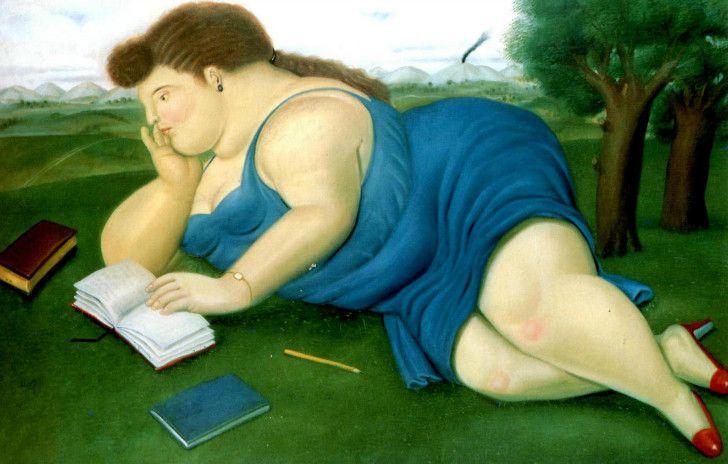 Fernando Botero - Woman With A Book