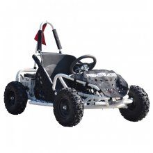 Aimed for kids 10 years old and over the 48v 1000w ride on go kart is the one for large gardens and older kids to enjoy and learn the skills of driving.