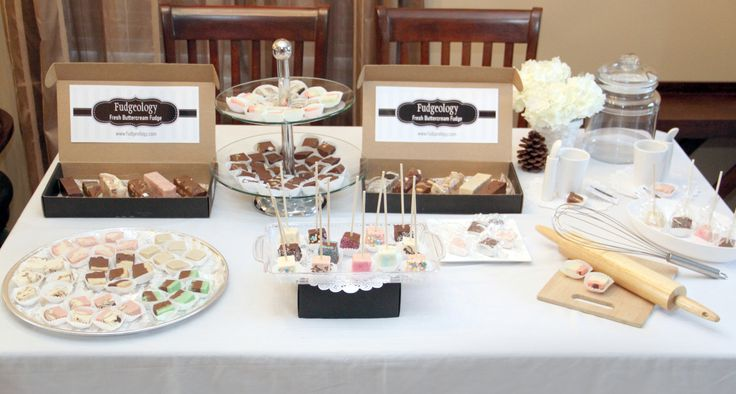 Delicious fudge table
