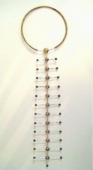 Necklace | Sergey Jivetin (American).  Stainless steel and brass