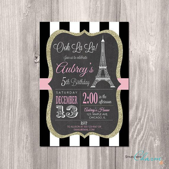 Unique Paris Invitations Ideas On Pinterest Paris - Sample birthday invitation in french