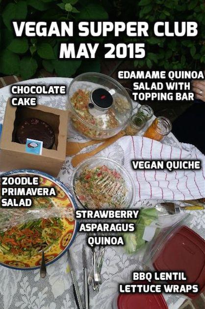 Zoodle Primavera Salad - Plus, May Vegan Supper Club Recap (with additional recipes)