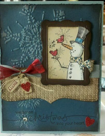 love this: Embossing Cards, Christmas Cards, Colors Combos, Christmas Wins, Snowman Su Cards Embossing, Snow Much Fun, Cards Christmas, Stamps Connection Cards, Snowman Cards