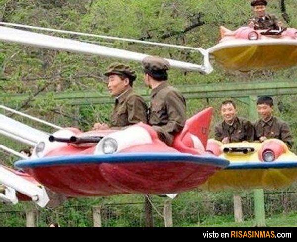 La temible fuerza aérea de Corea del Norte.