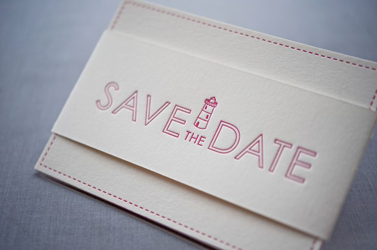 Colorful Destination Wedding Save the Dates by Gus & Ruby Letterpress | www.gusandruby.com