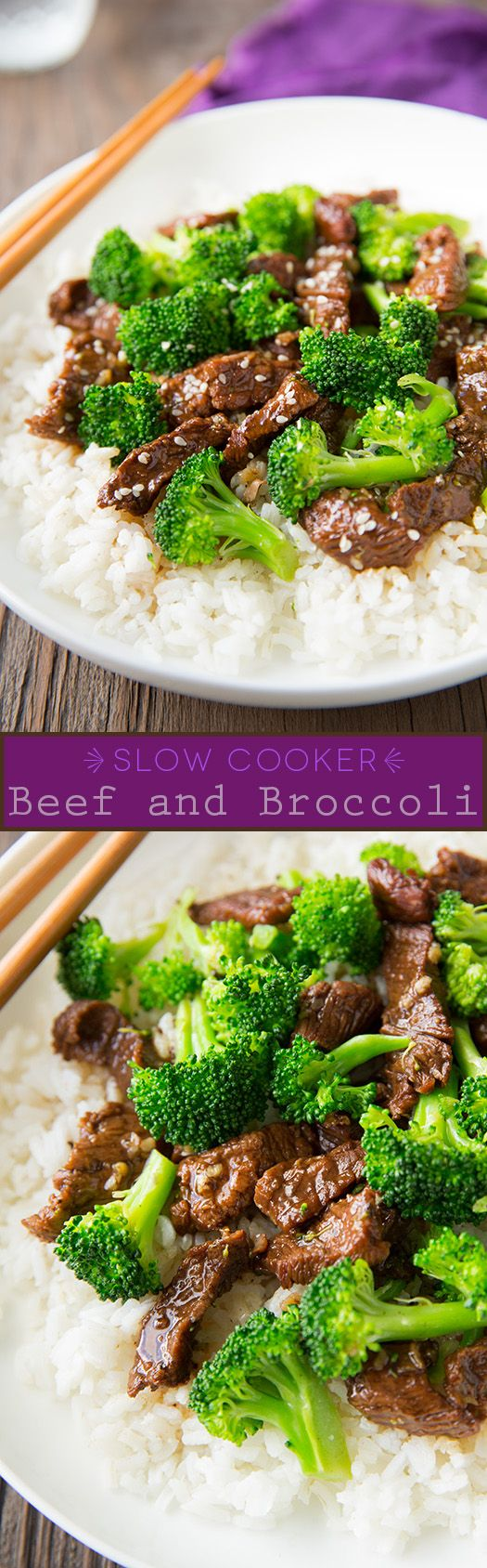 Slow Cooker Beef and Broccoli #delicious #Amazing #healthy_food #health #food #diet #fresh #HealthyFood #recipe #salad #tasty #colorful